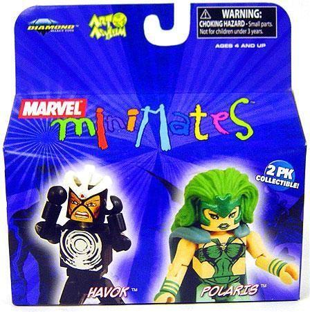 Marvel Minimates Series 20 Havok & Polaris Minifigure 2-Pack