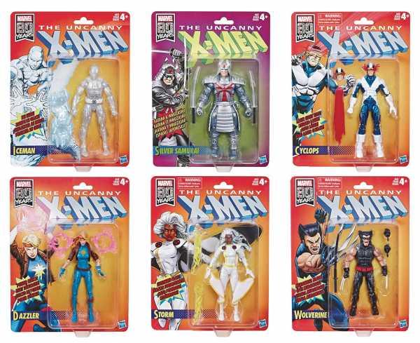 X-MEN LEGENDS RETRO 6INCH ACTIONFIGUREN 6er SET