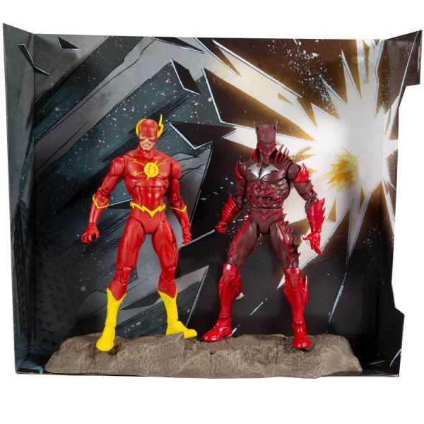 DC Multiverse Earth - 52 Batman VS Flash 18 cm Collector Actionfiguren Multipack