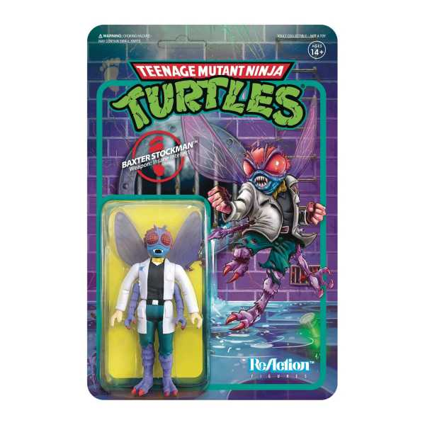 Teenage Mutant Ninja Turtles Baxter Stockman 3 3/4 Inch ReAction Actionfigur