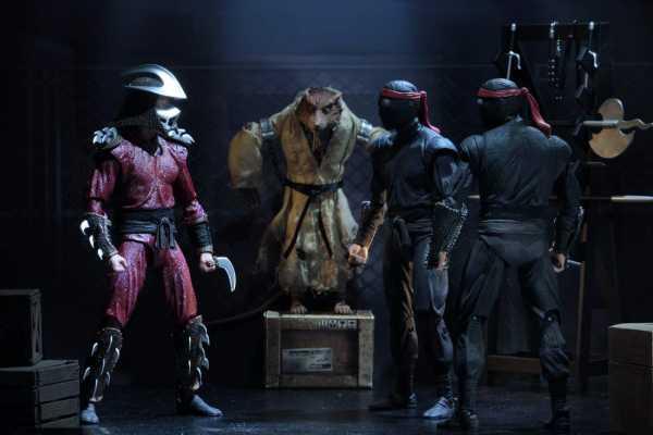 VORBESTELLUNG ! Teenage Mutant Ninja Turtles Splinter Shredder Melee & Bladed Footsoldiers 4er Set