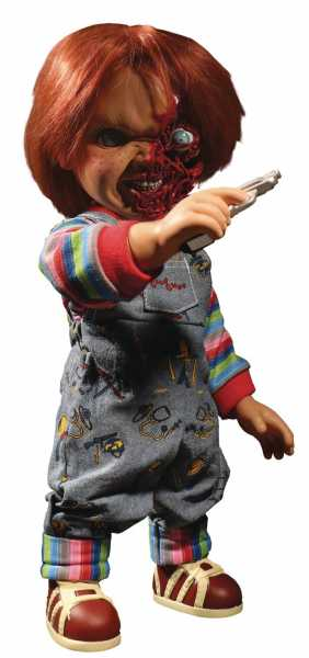 CHILDS PLAY TALKING PIZZA FACE CHUCKY 37,5 cm MEGA SCALE FIGUR