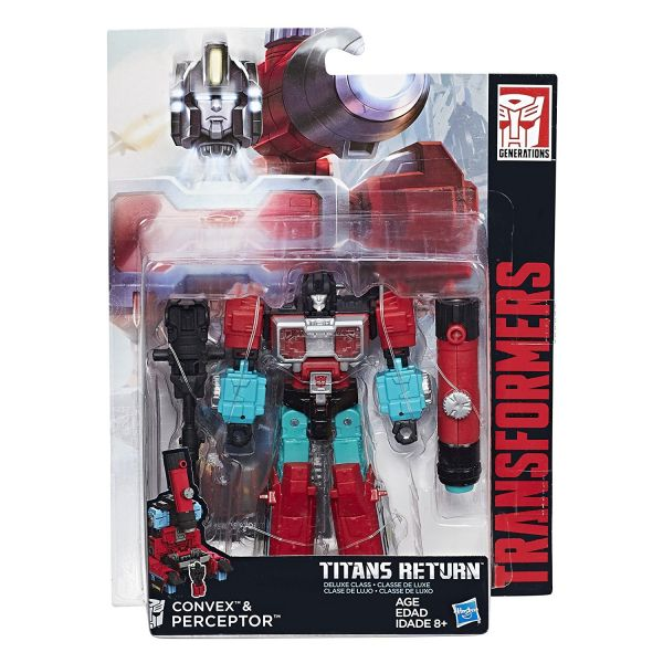 TRANSFORMERS TITANS RETURN DELUXE CONVEX & PERCEPTOR ACTIONFIGUR