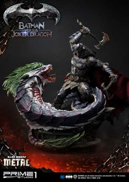 VORBESTELLUNG ! Dark Nights: Metal Statue Batman Versus Joker Dragon 87 cm