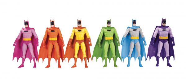 BATMAN RAINBOW ACTIONFIGUREN 6 PACK