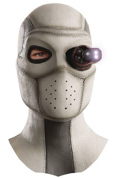 DC SUICIDE SQUAD DEADSHOT OVERHEAD LATEX MASK WITH LIGHT