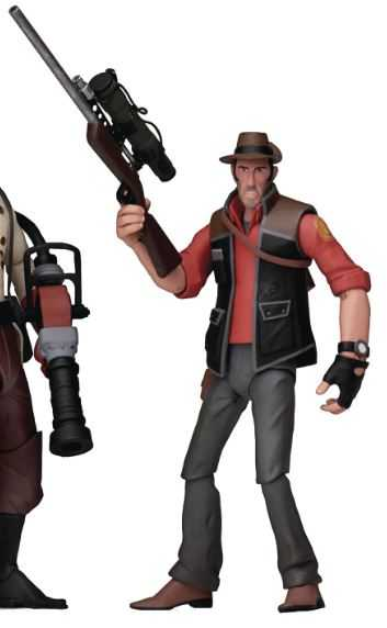 TEAM FORTRESS SERIES 4 RED SNIPER 17,5 cm ACTIONFIGUR