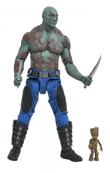 MARVEL SELECT GUARDIANS OF THE GALAXY 2 DRAX & BABY GROOT ACTIONFIGUR
