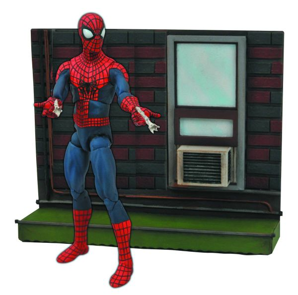MARVEL SELECT AMAZING SPIDER-MAN 2 AF W/BASE ACTIONFIGUR