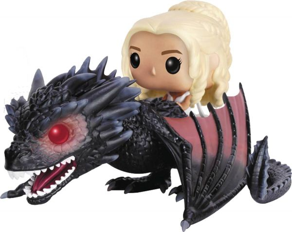 POP RIDES GAME OF THRONES DROGON & DAENERYS VINYL FIGUR