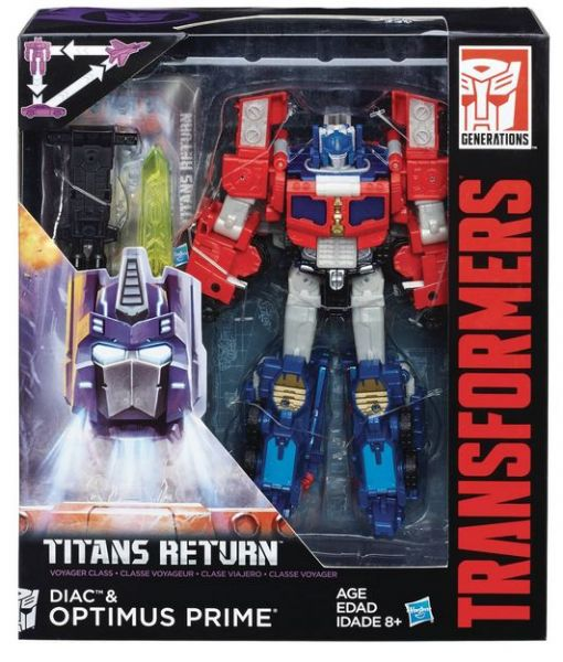 TRANSFORMERS TITANS RETURN VOYAGER DIAC & OPTIMUS PRIME ACTIONFIGUR