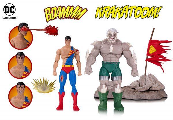 DC ICONS DOOMSDAY SUPERMAN DEATH SUPERMAN DELUXE ACTIONFIGUREN 2-PACK