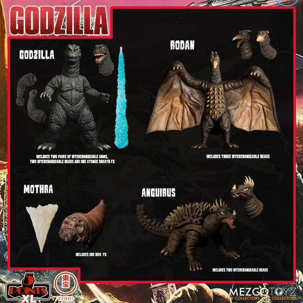 VORBESTELLUNG ! Godzilla: Destroy All Monsters (1968) 5 Points XL Round 1 Actionfiguren Box-Set