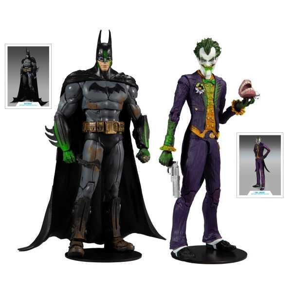 DC Multiverse Arkham Asylum Batman VS Arkham Asylum Joker 18 cm Actionfiguren Collector Multipack