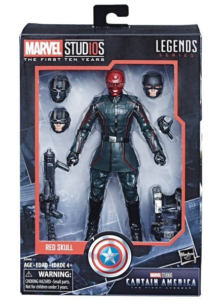MARVEL MCU 10TH ANNIVERSARY CAPTAIN AMERICA 1 RED SKULL ACTIONFIGUR