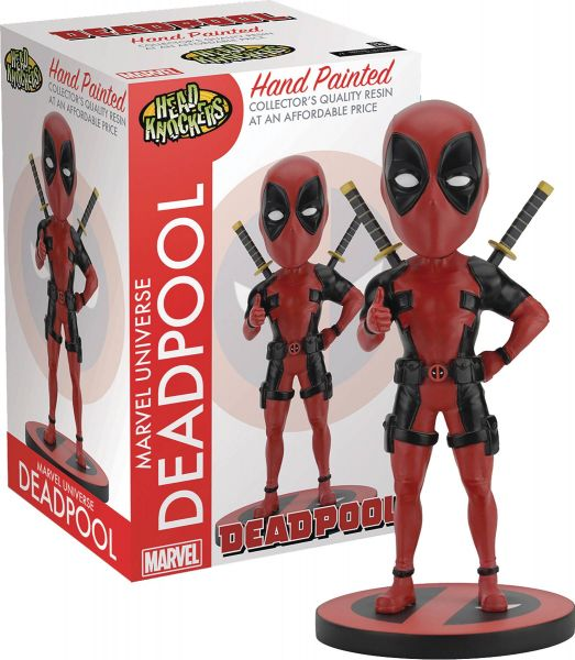 MARVEL HEROES DEADPOOL CLASSIC HEAD KNOCKER STATUE