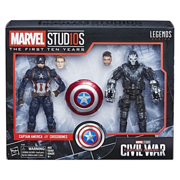 MARVEL MCU 10TH ANNIVERSARY CAPTAIN AMERICA 3 CROSSBONES SET