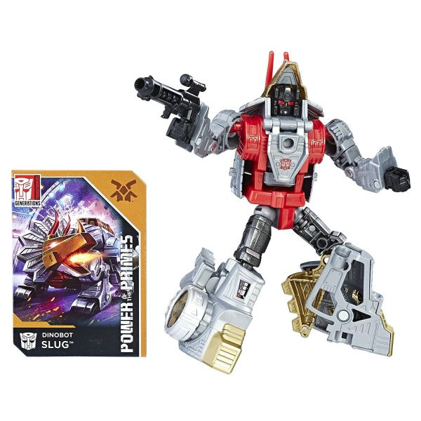 TRANSFORMERS GENERATIONS POWER OF THE PRIMES DELUXE CLASS DINOBOT SLUG ACTIONFIGUR