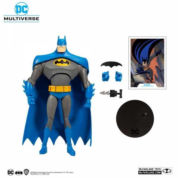 DC Multiverse Animated Batman Variant Blue/Gray 18 cm Actionfigur