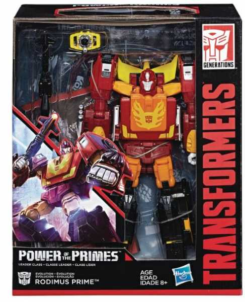 TRANSFORMERS GENERATIONS POWER OF THE PRIMES LEADER RODIMUS PRIME ACTIONFIGUR