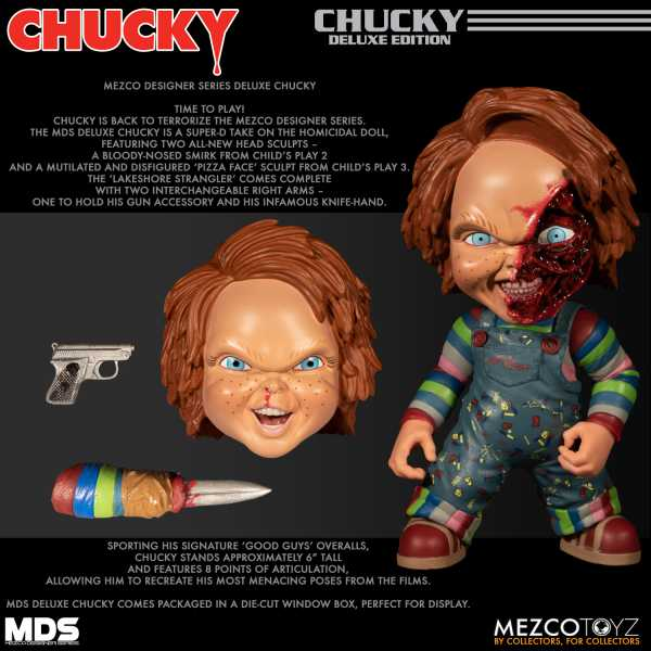 MEZCO DESIGNER SERIES CHILDS PLAY CHUCKY 6INCH DELUXE FIGUR
