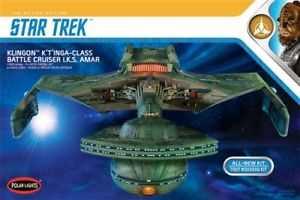 STAR TREK KLINGON K'T'INGA-CLASS BATTLE CRUISER I.K.S AMAR 1/350 SCALE MODELLBAUSATZ