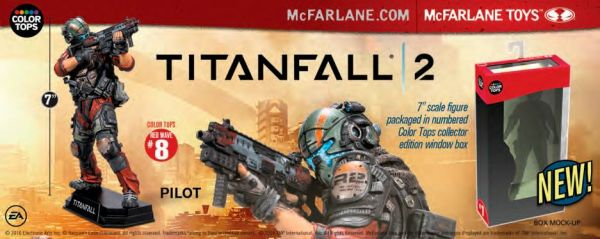 COLOR TOPS RED TITANFALL 2 PILOT JACK COOPER 17,5cm ACTIONFIGUR