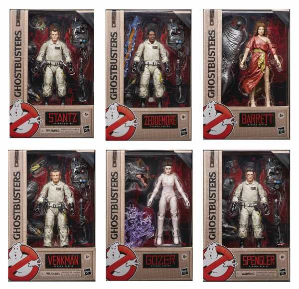 VORBESTELLUNG ! GHOSTBUSTERS PLASMA SERIES 6 INCH ACTIONFIGUREN WAVE 1 KOMPLETT-SET