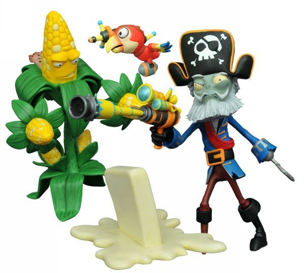 PLANTS V ZOMBIE GW2 SELECT SERIES 1 CAPTAIN DEADBEARD & KERNEL CORN ACTIONFIGUR