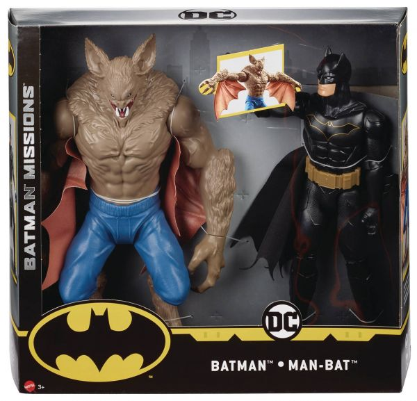 BATMAN KNIGHT MISSIONS VS MAN-BAT 30 cm ACTIONFIGUREN 2-PACK