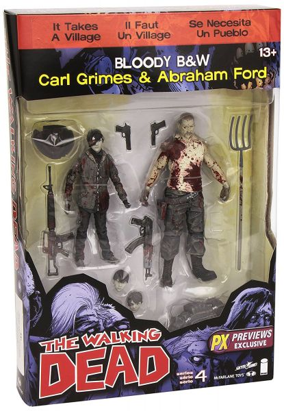 WALKING DEAD SERIES 4 PX CARL/ABRAHAM ACTIONFIGUREN 2-PACK