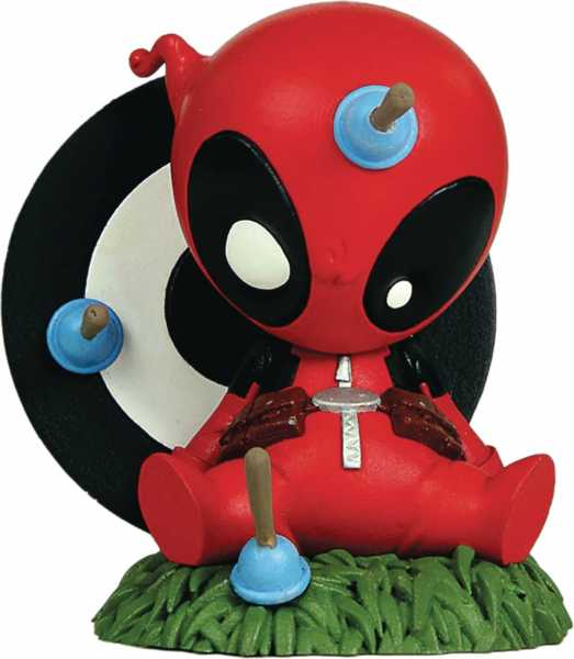 MARVEL MINI HEROES ANIMATED DEADPOOL PVC STATUE