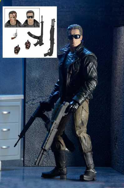 Terminator Ultimate Police Station Assault T-800 (Motorrad Jacke) 18 cm Actionfigur