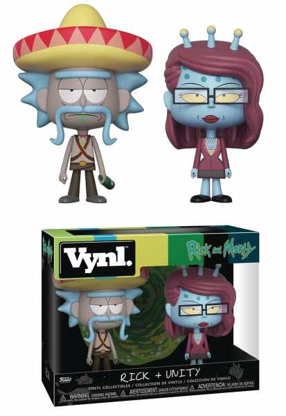 VYNL RICK & MORTY RICK + UNITY VINYL FIGUREN 2-PACK