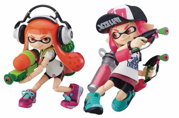 SPLATOON INKLING GIRLS FIGMA ACTIONFIGUREN DELUXE SET
