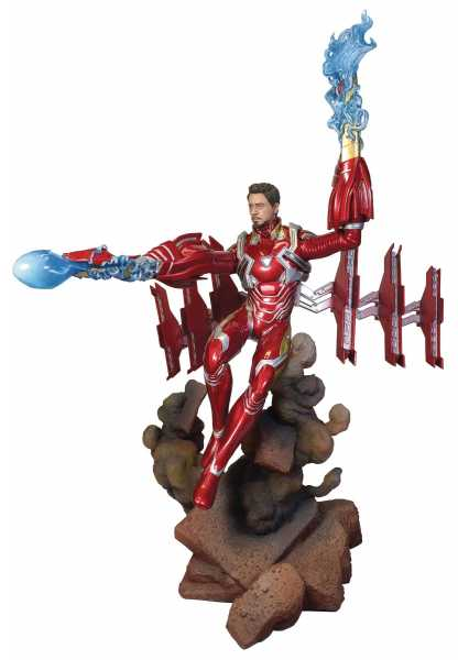 MARVEL GALLERY AVENGERS 3 UNMASKED IRON MAN MK50 DELUXE PVC STATUE