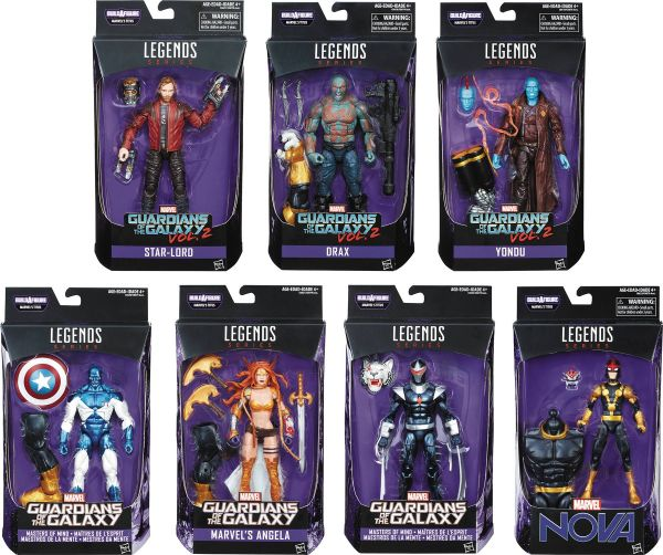 MARVEL LEGENDS GUARDIANS OF THE GALAXY 2 ALLE 7 ACTIONFIGUREN SET