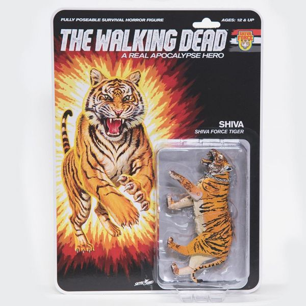 THE WALKING DEAD - A REAL APOCALYPSE HERO SHIVA ACTIONFIGUR BLOODY VERSION