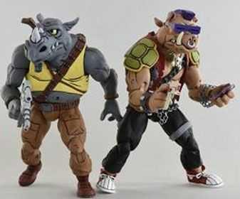 VORBESTELLUNG ! Teenage Mutant Ninja Turtles Rocksteady & Bebop 18 cm Actionfiguren Doppelpack