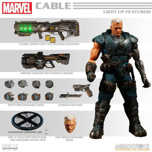 ONE-12 COLLECTIVE MARVEL CABLE ACTIONFIGUR