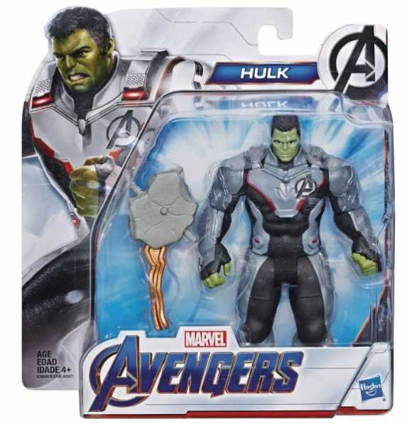AVENGERS 4 MOVIE 15 cm DELUXE TEAM SUIT HULK ACTIONFIGUR