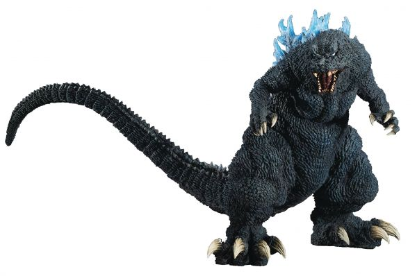 GIGANTIC SERIES GODZILLA 2001 FIGUR BLUE DORSAL FIN VERSION
