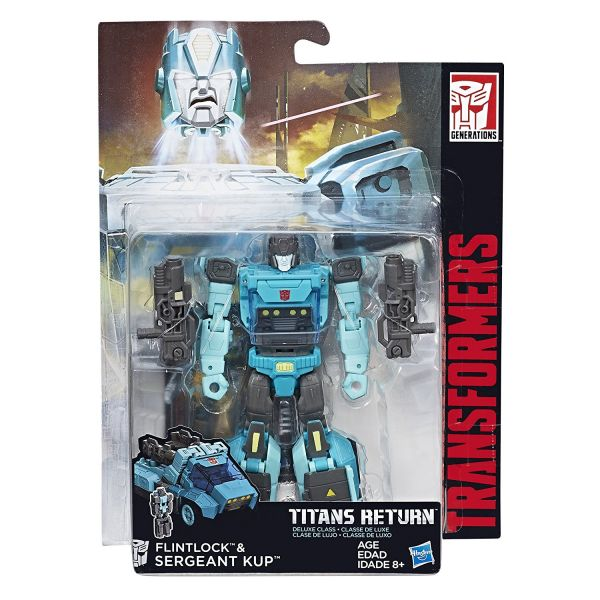 TRANSFORMERS TITANS RETURN DELUXE FLINTLOCK & SERGEANT KUP ACTIONFIGUR