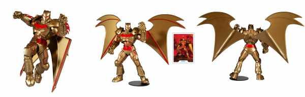 VORBESTELLUNG ! DC Multiverse Batman Hellbat Suit (Gold Edition) 18 cm Actionfigur
