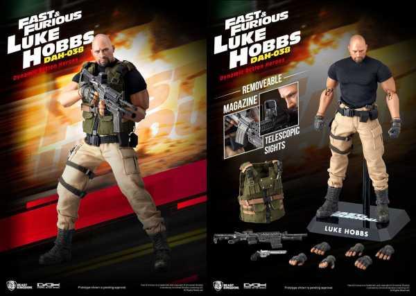 VORBESTELLUNG ! Fast & Furious Dynamic 8ction Heroes DAH-038 1/9 Luke Hobbs 21 cm Actionfigur