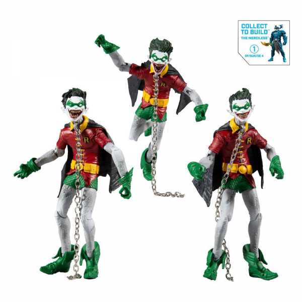 DC Multiverse Build A Batman Robin Earth (Dark Nights: Metal) 18 cm Actionfiguren 3-Pack
