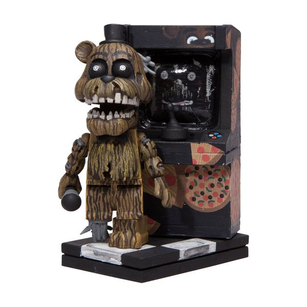 FIVE NIGHTS AT FREDDYS NIGHTMARE FREDDY WITH ARCADE CABINET BAUSATZ