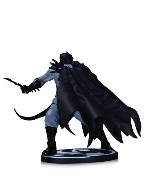 BATMAN BLACK AND WHITE STATUE BY DAVE JOHNSON