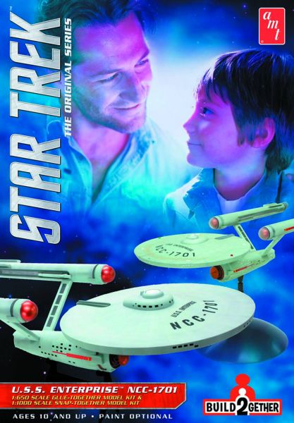 STAR TREK BUILD2GETHER USS ENTERPRISE MODELLBAUSATZ