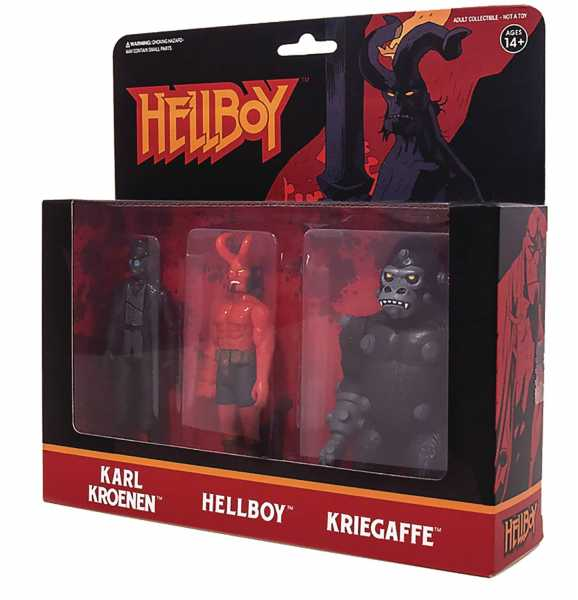 HELLBOY REACTION FIGURES ACTIONFIGUREN 3-PACK PACK A